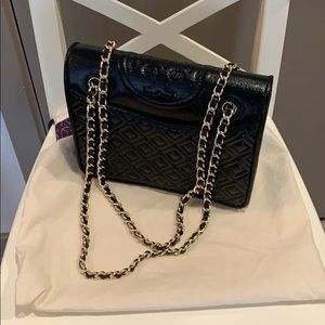 Tory Burch Saffino Leather Flap Bag